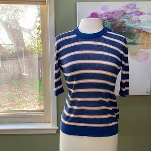 Veronica Beard short sleeve Dean sweater M